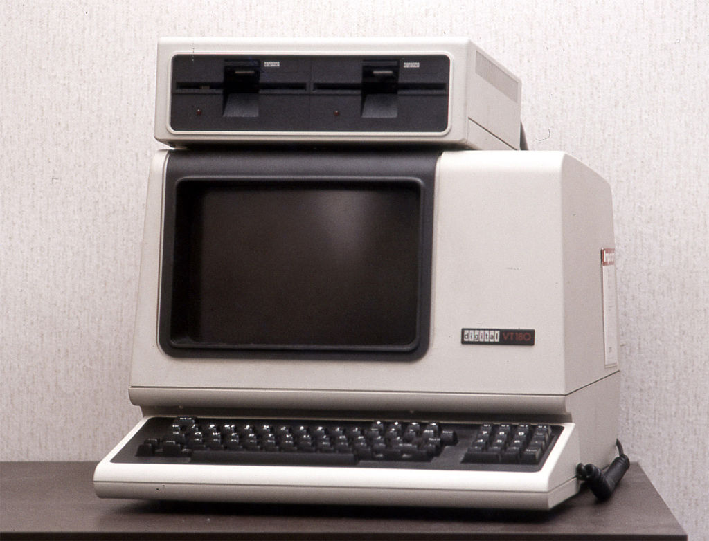A Picture of an old computer - a DEC VT180